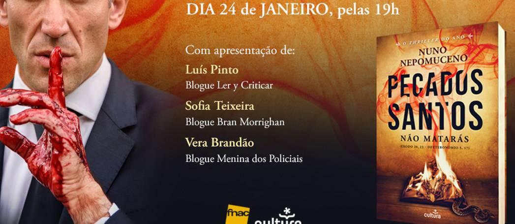Lançamento nacional de Pecados Santos quarta-feira.